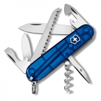 Victorinox Camper Swiss Army Knife, Sapphire, Clam Pack, 91mm