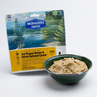Backpackers Pantry Hot Peanut Butter and Raisin Oatmeal Cereal, 1 Serving