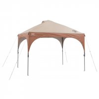 Coleman 10 x 10 Instant Lighted Coleman Shelter, White/Brown