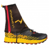 La Sportiva Winter Running Gaiter, Black/Yellow, Medium/Large