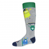 Hot Chillys Youth Doods Mid Volume Sock, Doods/Grey, Large