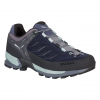 Demo, Salewa MTN Trainer Women's Approach Shoes, Premium Navy/Subtle Green, 7 US