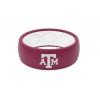 Groove Life Original - Collegiate Texas AM Full Logo Silicone Ring, Maroon/White/Red, 8