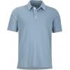 Marmot Wallace Polo Short Sleeve Shirt - Men's-Blue Granite Heather-Large