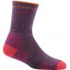 Darn Tough Hiker Micro Crew Sock Cushion Socks, Plum Heather, Large