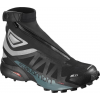 Salomon Snowcross 2 Cs Waterproof Boot, Black/Reflective Silver/Mallard Blue, 10.5