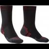 Bridgedale STORMSOCK Heavyweight Boot Socks, Black/Red, Large