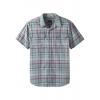 prAna Cayman Plaid Short Sleeve - Mens, Agave, Large,  -033-L