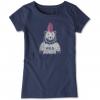 Life Is Good Crusher Tee Wild Bear Mohawk T-Shirt - Unisex, Darkest Blue, Large