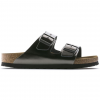 Birkenstock Arizona Soft Footbed Leather Sandals - Women's, Anthracite Leather, Medium, 37