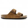 Birkenstock Arizona Soft Footbed Suede Leather Sandals - Women's, Minke Suede, Medium, 36