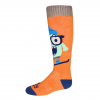 Hot Chillys Youth In Your Face Mid Volume Sock, IYF/Orange, Medium
