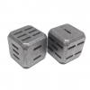 Flytanium Sci-Die Large Titanium D6 Dice, Set of 2, Stonewash