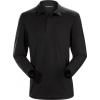 Arc'teryx Captive Long Sleeve Polo - Men's, Black/Black, Large