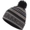 Black Diamond Pom Beanie - Unisex, Black-Gray, All Sizes