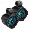 """Boss Audio 6.5 Amplified Wake Tower Multi-Color Illuminated Speakers - Black"""