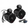 """Boss Audio 6.5 2-Way Amplified Waketower Speakers w/Bluetooth Controller"""