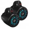 """Boss Audio 4 Amplified Wake Tower Multi-Color Illuminated Speakers - Black"""