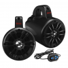 """""""Boss Audio 4 2-Way Amplified Roll Cage/Waketower Speaker Pods w/Bluetooth Controller"""""""