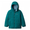 Columbia Powder Lite Boys Hooded Jacket - Boy's, Pine Green, Large