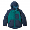 Columbia Casual Slopes Jacket - Boy's, Pine Green Heather, Coll Navy Heather, Large