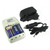 1 Hour Smart Ultra-Quick Battery Charger w/ AC/DC Plug