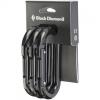 Black Diamond Oval Carabiner - 3 Pack