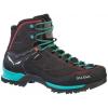 Salewa Mountain Trainer Mid GTX Backpacking Boot - Women's-Magnet/Viridian Green-6