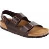 Birkenstock Milano Brown Soft Footbed Sandal - Unisex-Brown-41-Medium