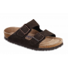 Birkenstock Arizona Suede Soft Footbed Sandal - Women's-Mocha-Medium-37