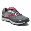 Brooks Adrenaline GTS 18 Road Running Shoes - Normal - Womens, Ebony/Silver/Pink, 6.5 US