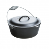Lodge Cast Iron Dutch Oven with Spiral Bail Handle, 7 quart