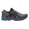 Asics Gel-Kahana 8 Trail Running Shoe - Women's-Black/Island Blue/Pink Glow-Medium-7.5