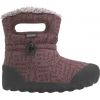 Bogs B-Moc Dash Puff Winter Boot - Kid's-Plum-3 Youth