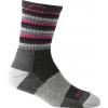 Darn Tough Hike/Trek Stripe Micro Crew Cushion Socks - Women's-Hot Pink Stripe-Small