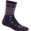 Darn Tough Blazes Micro Crew Cushion Sock - Women's-Purple-Small