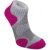 Bridgedale CoolFusion Multisport Light 3/4 Crew Sock - Women's-Grey/Rasberry-Medium