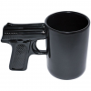 Aloe Gator Black Ceramic Gun Mug 16.9 Oz