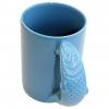 Aloe Gator Ceramic Fish Mug Blue 16.9 Oz