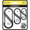 Nite Ize S-Biner Versatile Carry Biners - 3 Pack, Black
