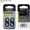 Nite Ize S-Biner MicroLock - Black, 2-pack