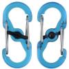 Nite Ize S-Biner Plastic MicroLock 2pk Translucent Blue