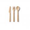 Bambu Bamboo Knife, Fork Spoon Set, Natural, Natural, 7 1/4in, 0