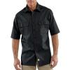 Carhartt Twill Short Sleeve Work Shirt for Mens, Black, Large/Regular, G