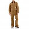 Carhartt Quilt Lined Duck Coverall For Mens, Brown, 40/Regular, X01 Brn Reg 40