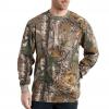 Carhartt Camo Long Sleeve T-Shirt for Mens, Realtree Xtra, 2XL/Regular