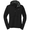 Outdoor Research Shiftup Half Zip Hoody - Men's-Pewter/Lemongrass-Small