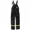 Carhartt Hv Striped Duck Bib Lined Overall, Black, 30/28