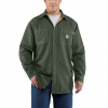 Carhartt Flame-Resistant Canvas Shirt Jacket, Moss, Medium/Regular