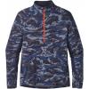 Patagonia All Weather Zip-Neck Long Sleeve Shirt - Men's-El Nino Camo/Navy Blue-Large